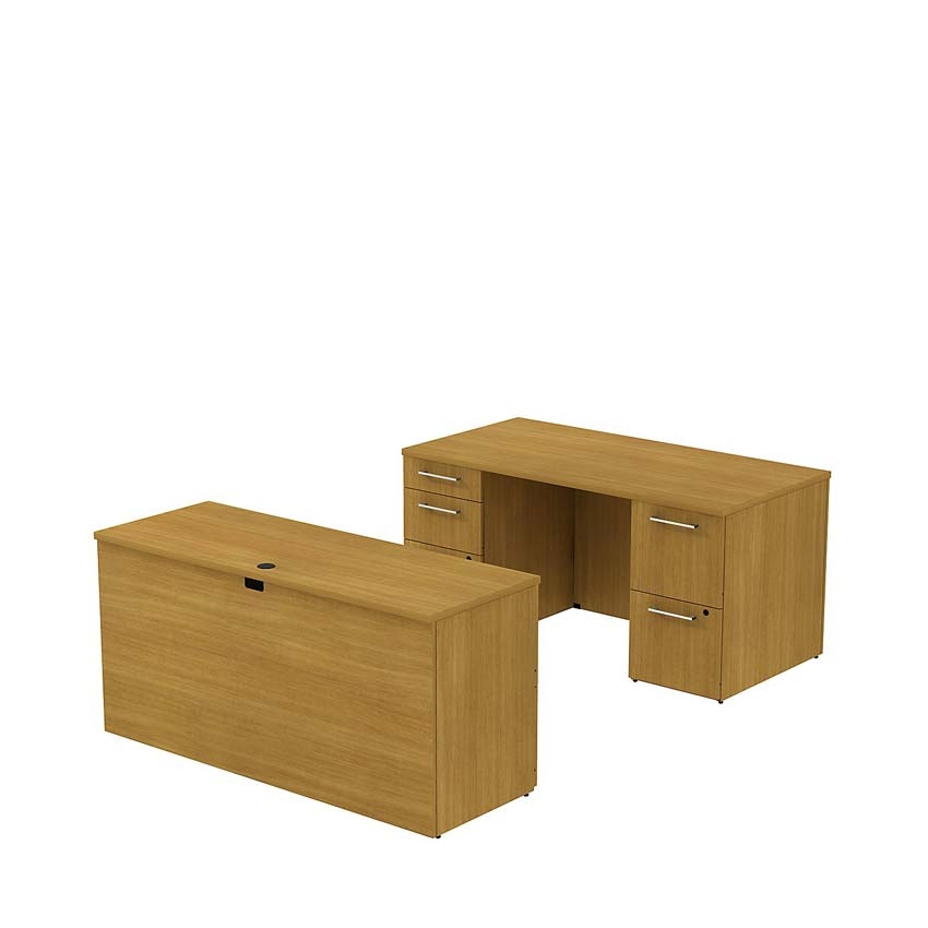 Bush 300 Series 60 inch Double Pedestal Desk with 60 inch