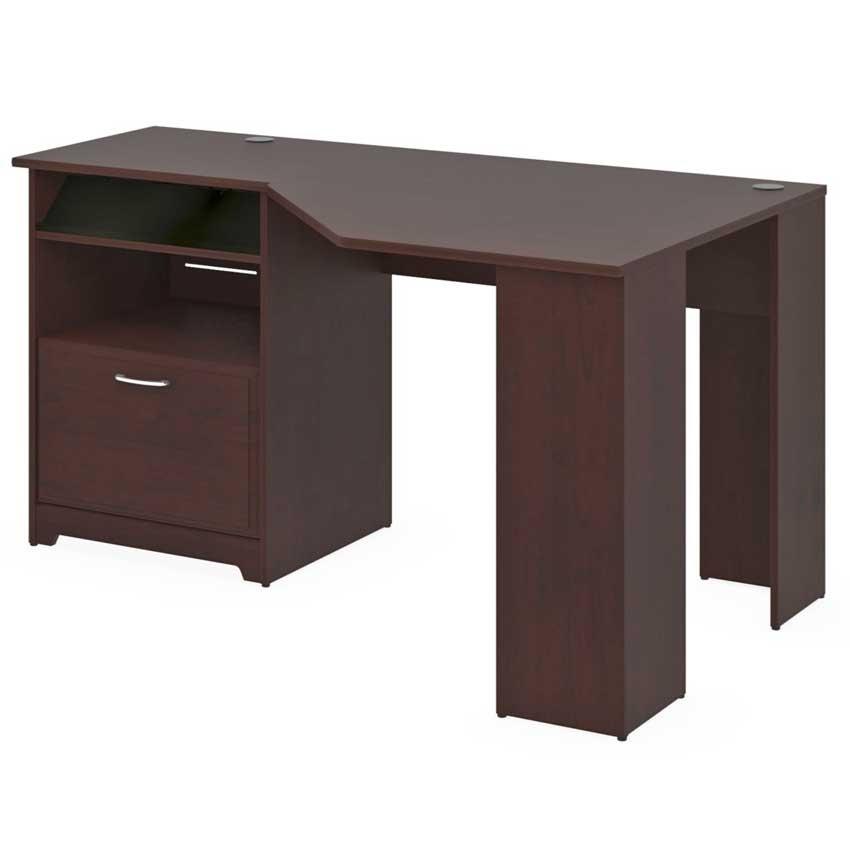 Bush cabot corner desk with hutch and cube bookcase cab006hvc - Bush desk assembly instructions ...