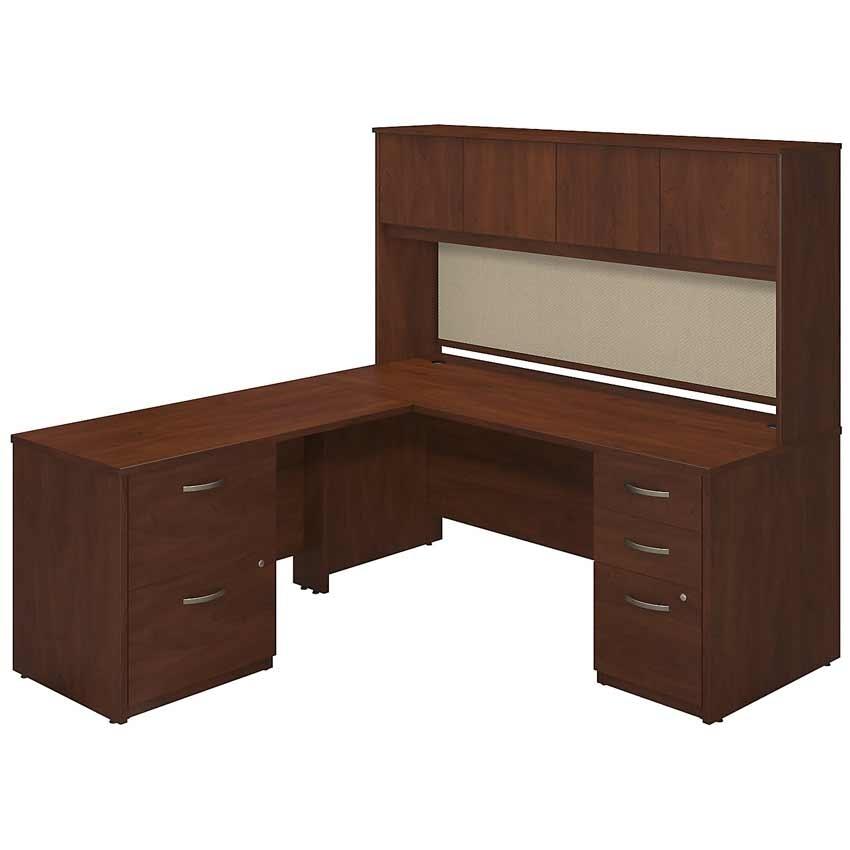 Series c elite 72x30 l desk kit sre130hcsu bush furniture - Bush desk assembly instructions ...