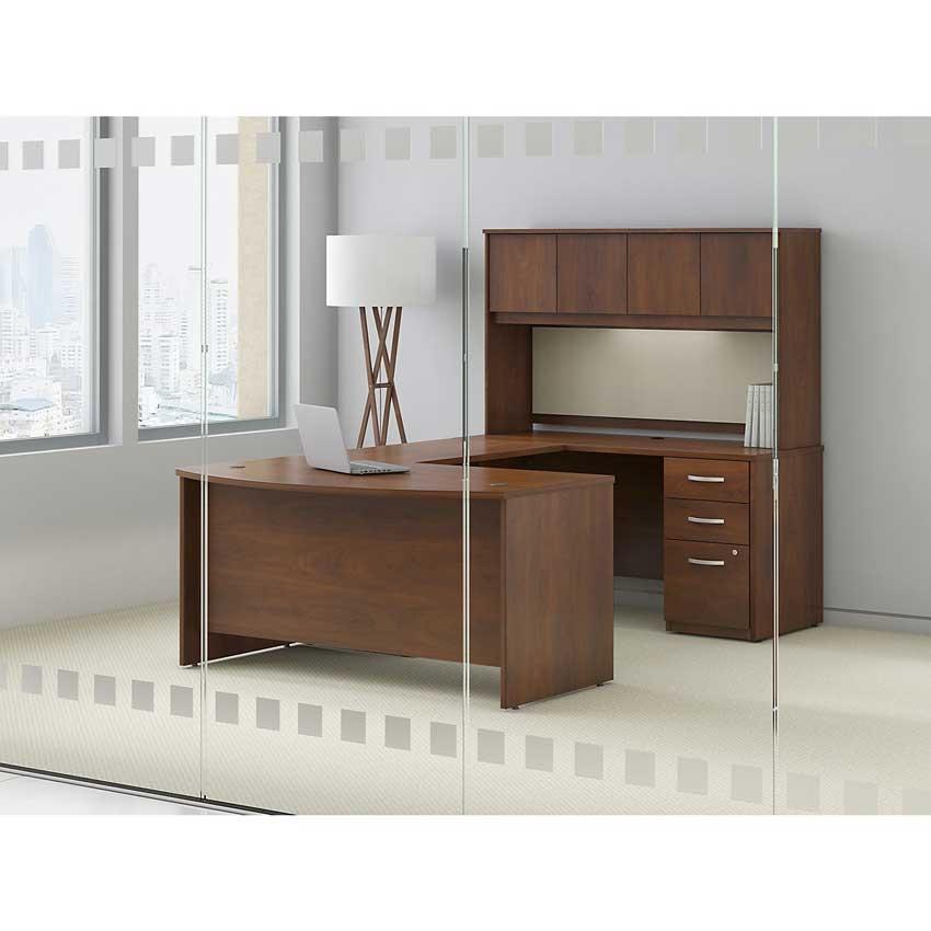Series C Elite 60x36 Bow Front Desk Wc24505 Bush Furniture