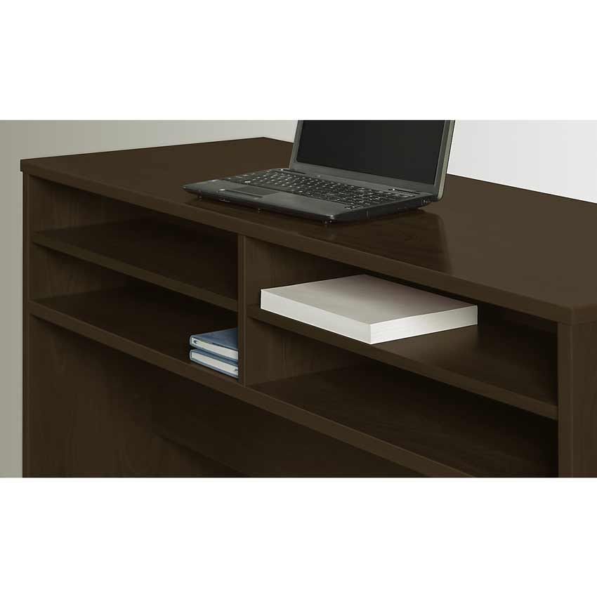 Series c elite 60 inch desk organizer wc12910 bush furniture - Cherry desk organizer ...