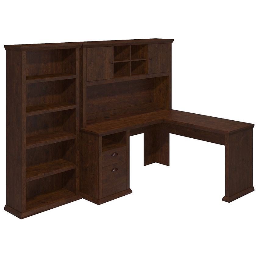Bush Desks With Hutch Bush Cabot L Shaped Computer Desk