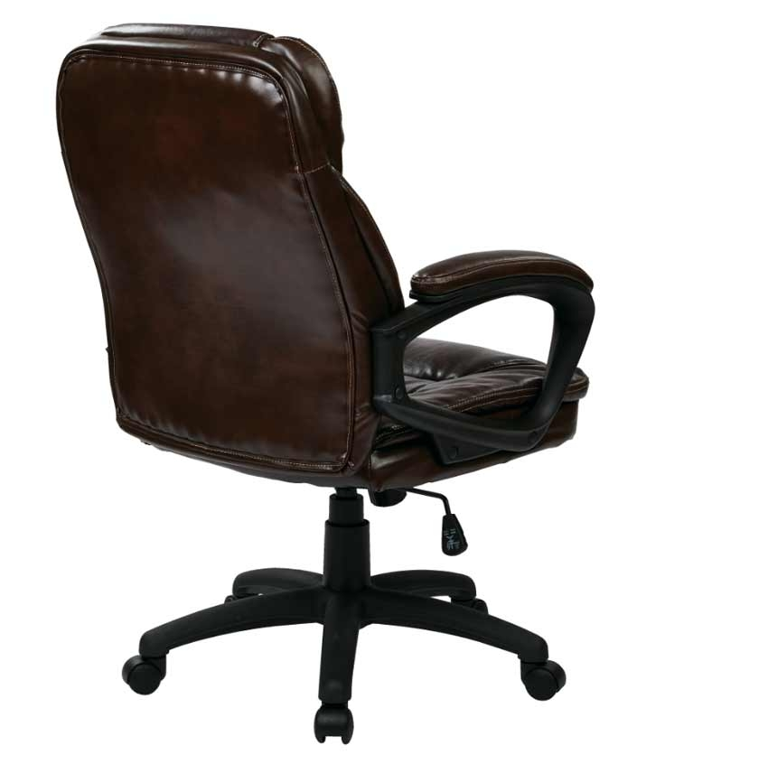 faux leather managers chair with padded armsl office