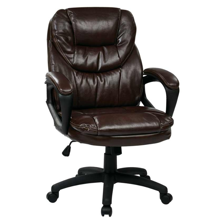 Faux Leather Managers Chair With Padded Armsl Office Star FL660