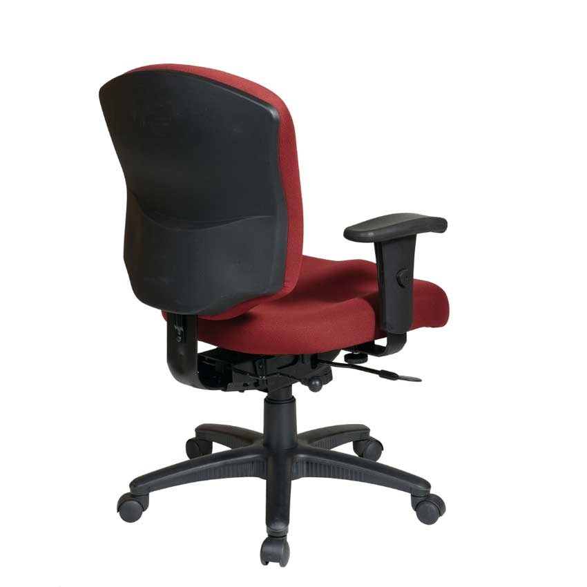 Mid Back Executive Chair With Height Adjustable Back