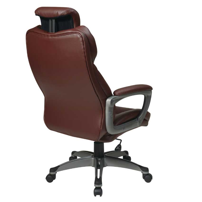 Executive Eco Leather Chair with Adjustable Headrest  : large4650ECH85807 EC6 back up <strong>Leather Drafting</strong> Chair from www.u-sav.com size 850 x 850 jpeg 74kB