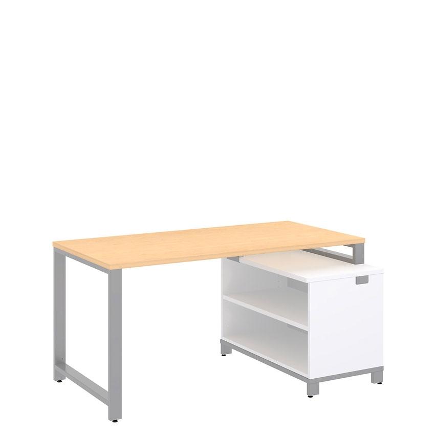 Bush Momentum 60x30 Desk with 24H Open Storage Natural Maple
