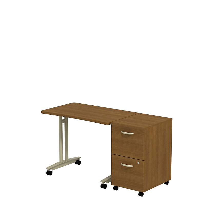 Bbf series c adjustable height table with 2 drawer for C table with drawer
