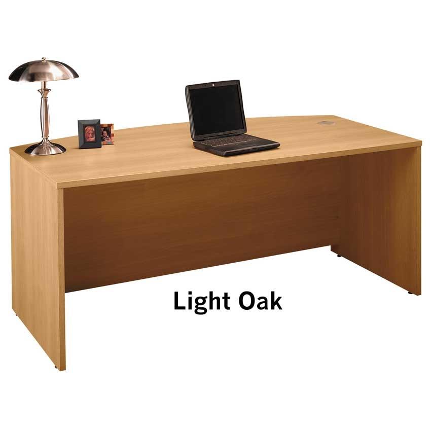 lshape return desk w executive hutch set in golden oak cambr