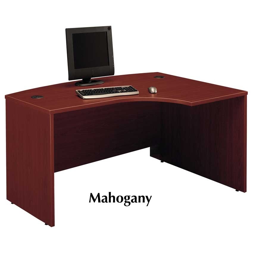 Series C Mahogany Right L Bow Desk Wc36722 Bush Furniture