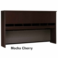 Bush Series C 72 inch 4-Door Hutch  Mocha Cherry