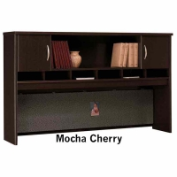 Bush Series C 72 inch 2-Door Hutch  Mocha Cherry