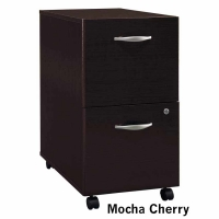 Bush Series C 2-Drawer Mobile File - Mocha Cherry
