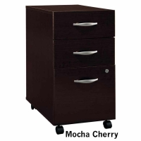 Bush Series C 3-Drawer Mobile File - Mocha Cherry