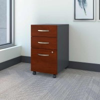 Bush Series C 3-Drawer Mobile File - Hansen Cherry