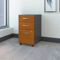 Bush Series C 3-Drawer Mobile File - Natural Cherry