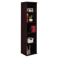 Bush Series C 18 inch W 5-Shelf Bookcase - Mocha Cherry