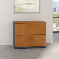 Bush Series A 36 inch Lateral File - Natural Cherry