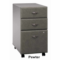 Bush Series A 3-Drawer Mobile File (Pewter)