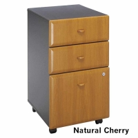 Bush Series A 3-Drawer Mobile File (Natural Cherry)