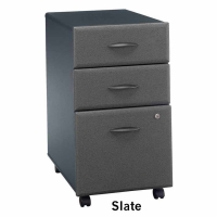 Bush Series A 3-Drawer Mobile File - Slate