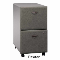 Bush Series A 2-Drawer Mobile File (Pewter)