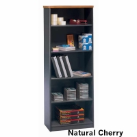 Bush Series A 5-Shelf Bookcase - Natural Cherry