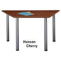 Bush Aspen Trapezoid Table  Hansen Cherry