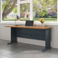 Bush Series A 72W Desk - Natural Cherry