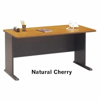 *Avail 7/10 Bush Series A 60 inch Desk - Natural Cherry