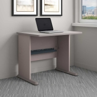Bush Series A 36W Desk in Pewter
