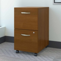 Bush Series C 2-Drawer File  Warm Oak