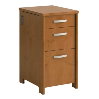 Bush Envoy Collection 3-Drawer Pedestal  Natural Cherry
