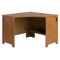 Bush Envoy Corner Computer Desk  Natural Cherry