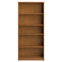 Bush Envoy Collection 5-Shelf Bookcase  Natural Cherry