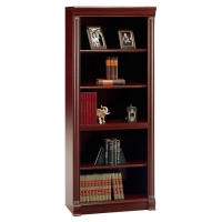 Bush Birmingham Executive  5-Shelf Bookcase Harvest Cherry