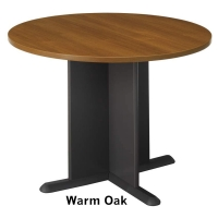 Bush 42 inch Round Conference Table  Warm Oak