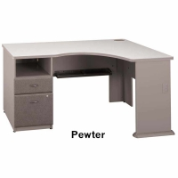 Bush Series A Expandable Corner Desk (Pewter)