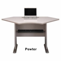 Bush Series A 42 inch Corner Desk (Pewter)