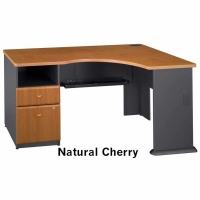 Bush Series A Expandable Corner Desk (Natural Cherry)