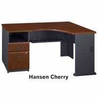 Bush Series A Expandable Corner Desk (Hansen Cherry)
