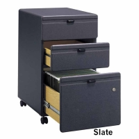Bush Series A Mobile 3-Drawer File (Slate)