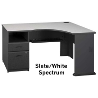 Bush Series A Expandable Corner Desk (Slate)