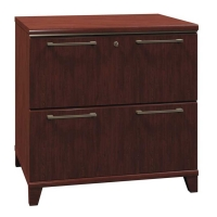 Bush Enterprise 30 inch 2-Drawer Lateral File - Harvest Cherry