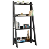 Bush Alamosa Ladder Bookcase  Classic Black