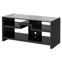 KI New York Skyline 3-in-1 Gaming Center-TV Stand in Modern Mocha