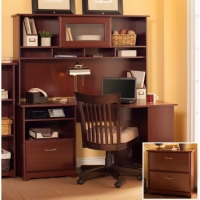Bush Cabot Corner Desk with Hutch and Lateral File