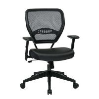 Pro Dark Air Grid Back Managers Chair with Eco Leather Seat