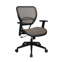 Latte Air Grid Seat and Back Deluxe Task Chair
