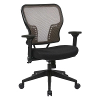 Professional Latte AirGrid Back Managers Chair with Fabric Seat